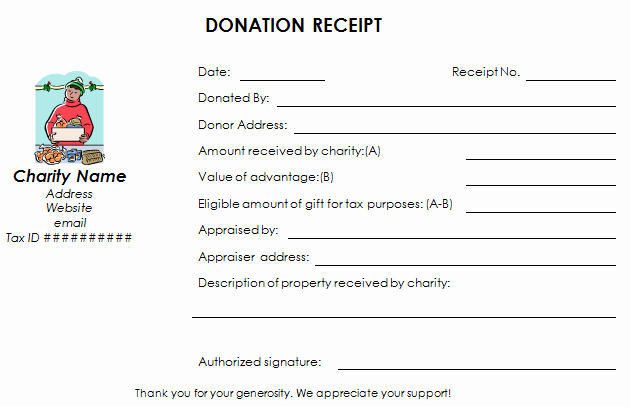 Nonprofit Donation Receipt Template Lovely Download Nonprofit Donation Receipt Template