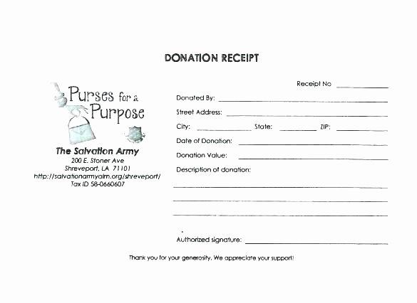 Nonprofit Donation Receipt Template New 10 Nonprofit Donation Receipt Template
