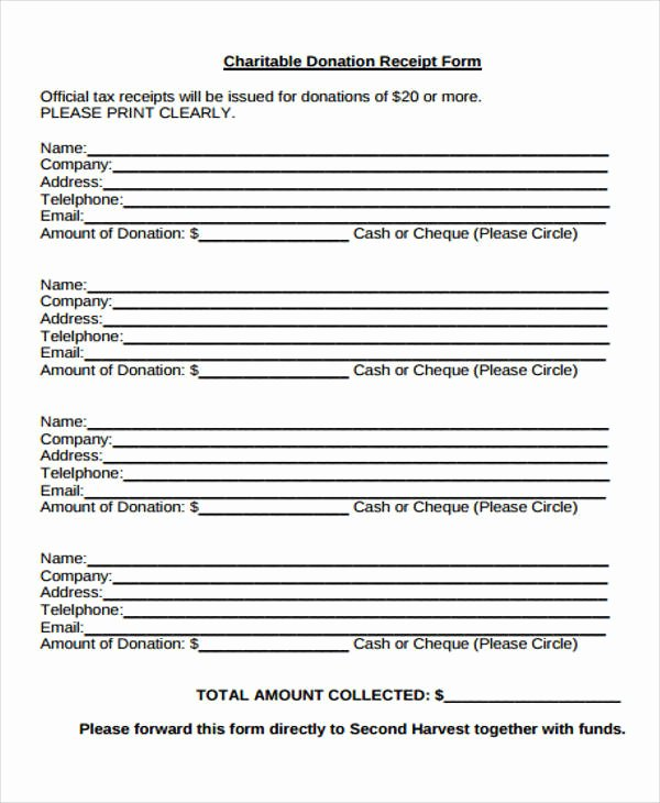 Nonprofit Donation Receipt Template New 36 Printable Receipt forms