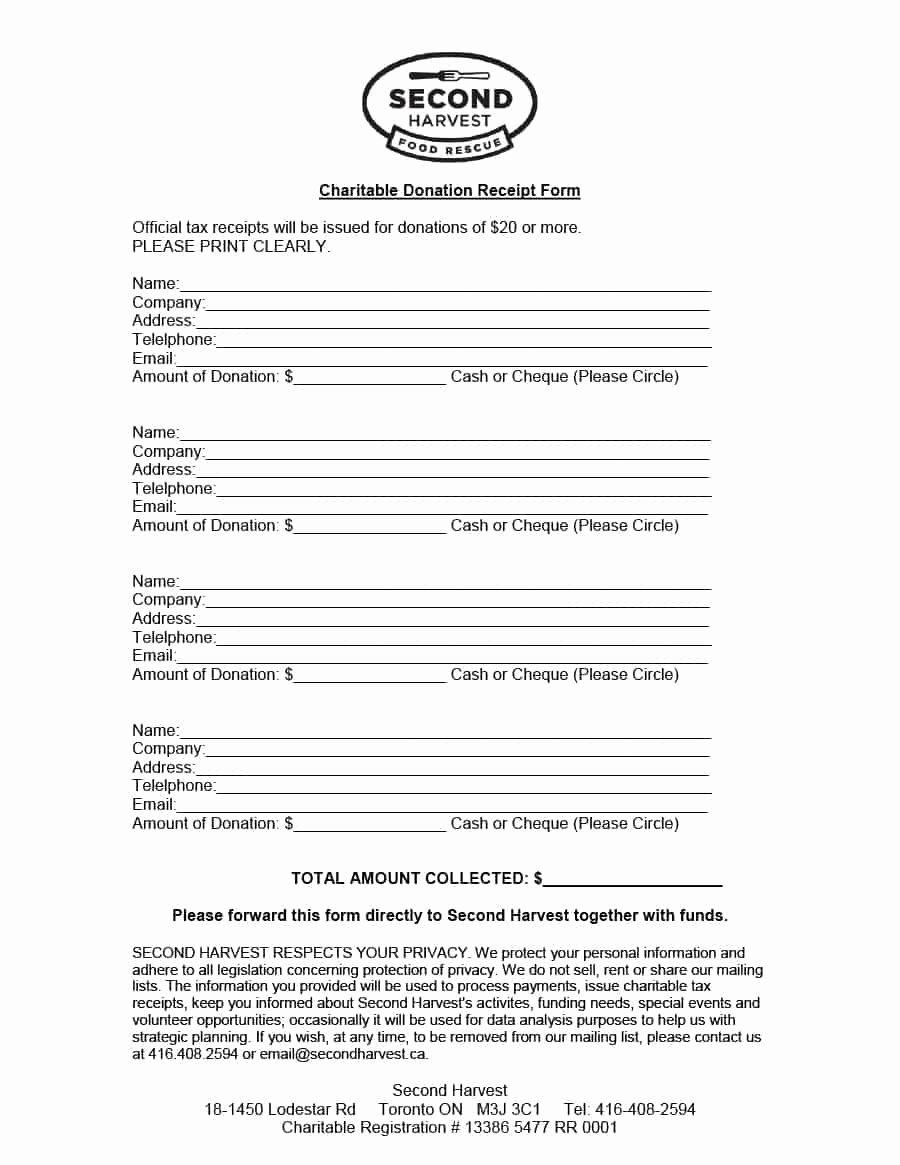 Nonprofit Donation Receipt Template New 40 Donation Receipt Templates & Letters [goodwill Non Profit]