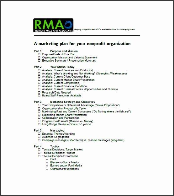 Nonprofit Marketing Plan Template Best Of 9 Service Marketing Plan Presentation Sampletemplatess