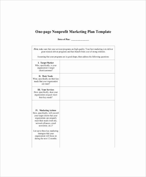 Nonprofit Marketing Plan Template Elegant 7 E Page Marketing Templates – Free Sample Example