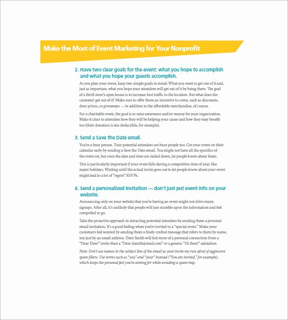 Nonprofit Marketing Plan Template Luxury event Marketing Plan Template – 17 Free Word Excel Pdf