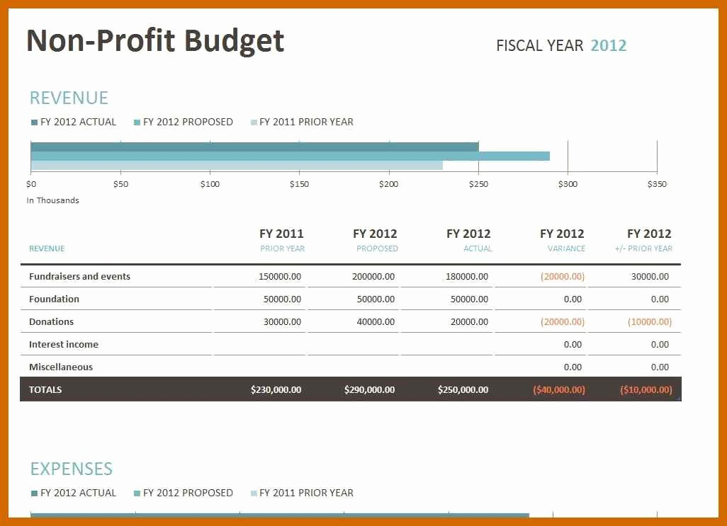 Nonprofit Program Budget Template Fresh 6 7 Sample Nonprofit Bud