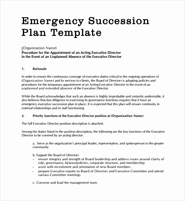 Nonprofit Succession Planning Template Elegant 10 Succession Plan Templates