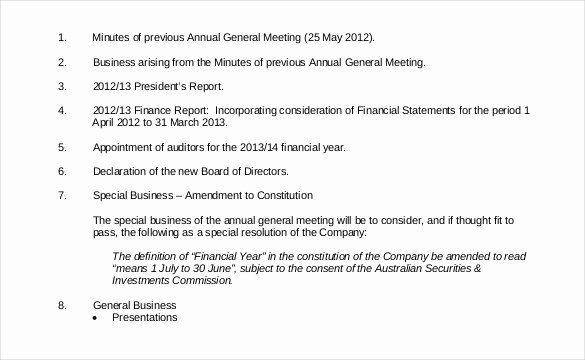 Notice Of Board Meeting Template Awesome 29 Notice Of Meeting Templates Pdf Google Docs Ms