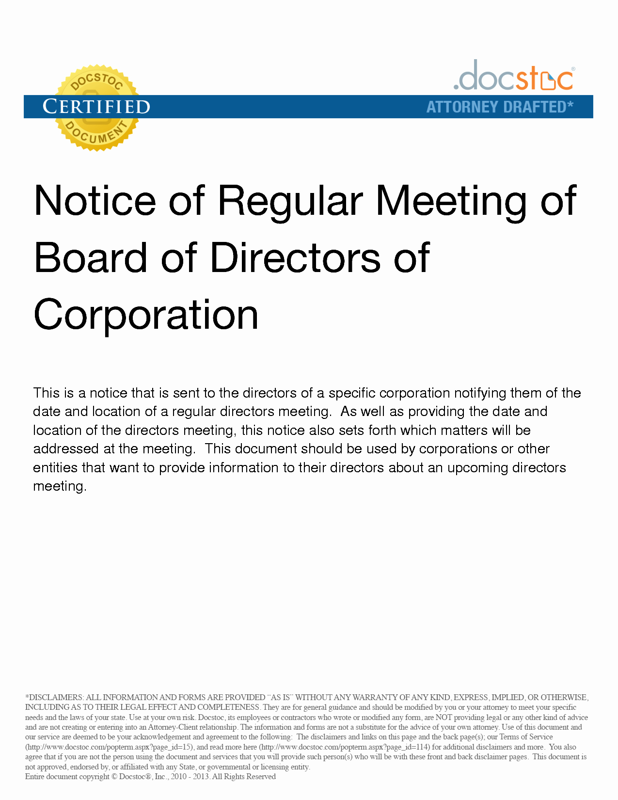 Notice Of Board Meeting Template Inspirational 7 Best Of Notice Board Meeting Meeting Notice