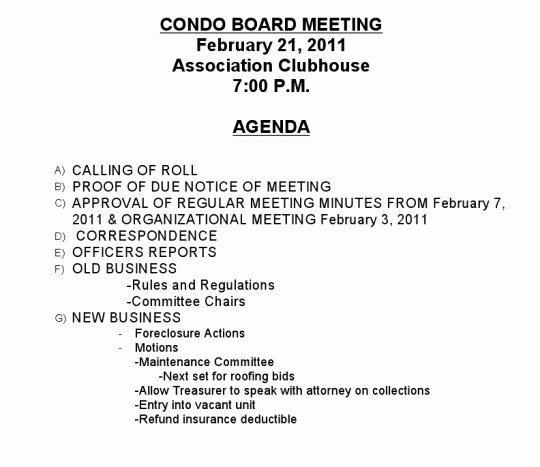 Notice Of Board Meeting Template Luxury the Laws Governing Condominium association Meetings and
