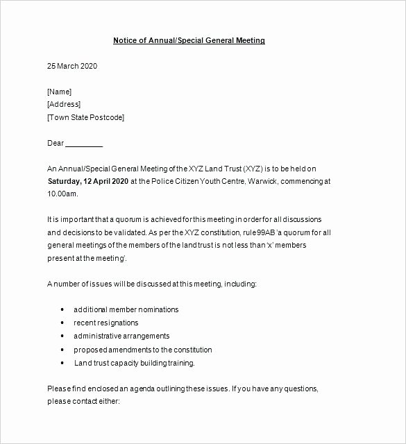 Notice Of Board Meeting Template Unique Pattern Board Meeting Agenda Template Free Paperwork In