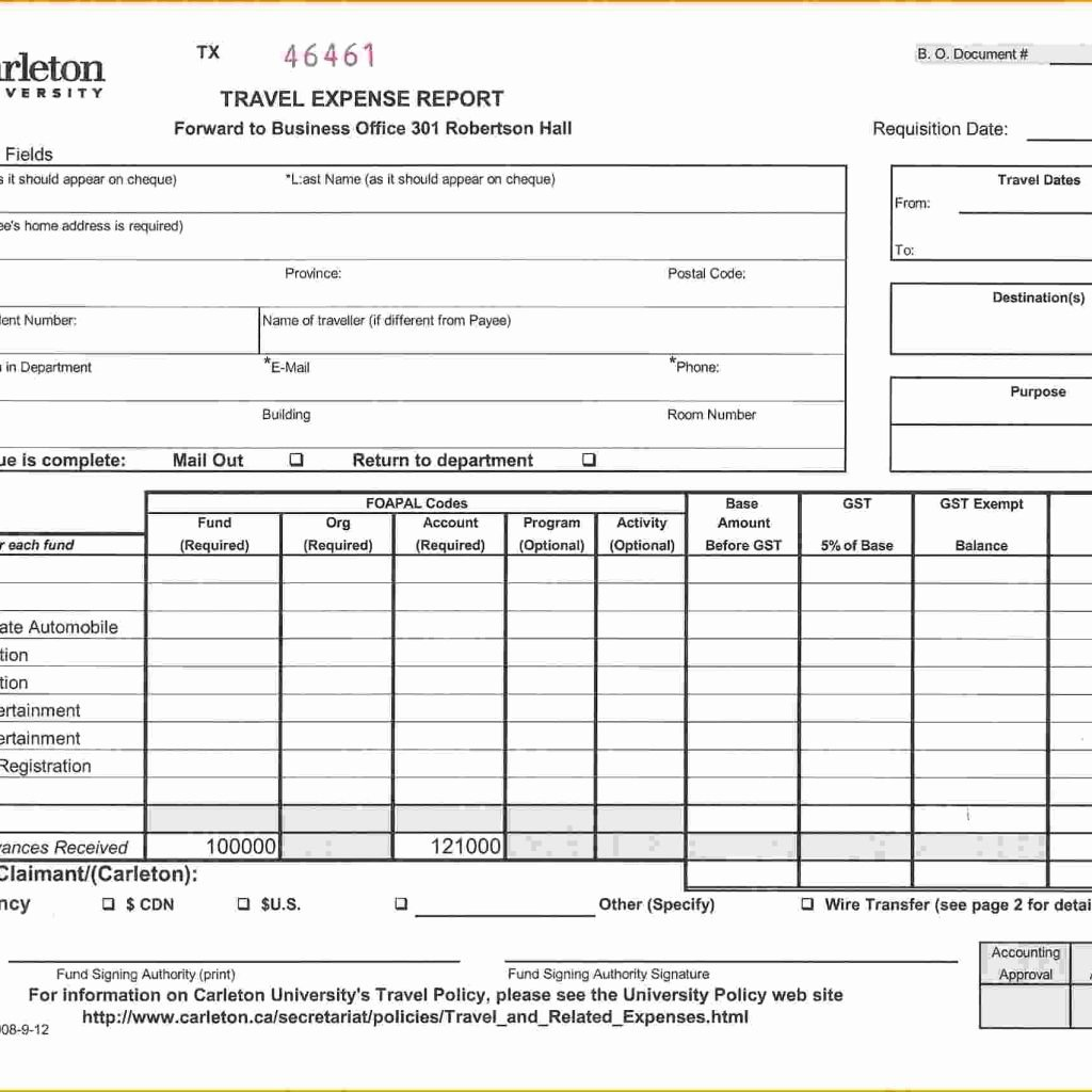 Numbers Expense Report Template Awesome Expense Report Template with Mileage and Expense Report