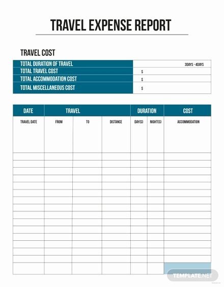 Numbers Expense Report Template Awesome Free Pany Expense Report Template Download 154