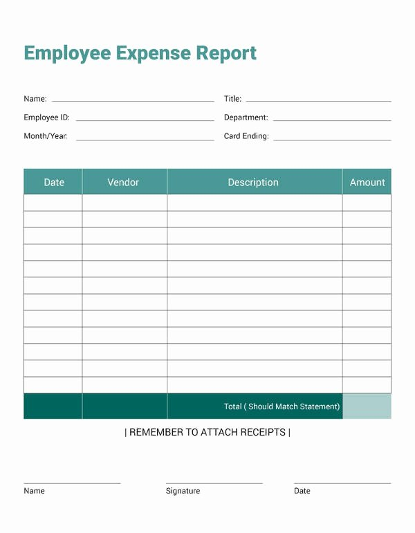 Numbers Expense Report Template Unique 27 Expense Report Templates Pdf Doc