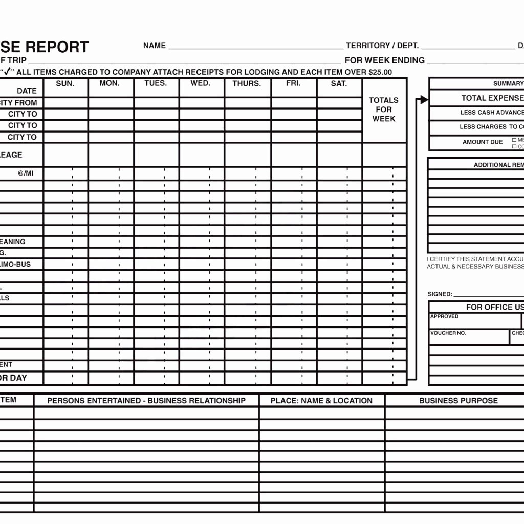 Numbers Expense Report Template Unique Expense Report Template with Mileage and Expense Report