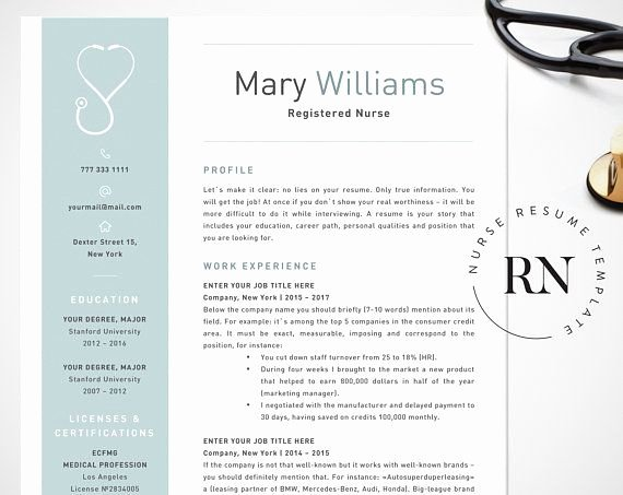 Nurse Resume Template Word Awesome Nurse Resume Template for Word