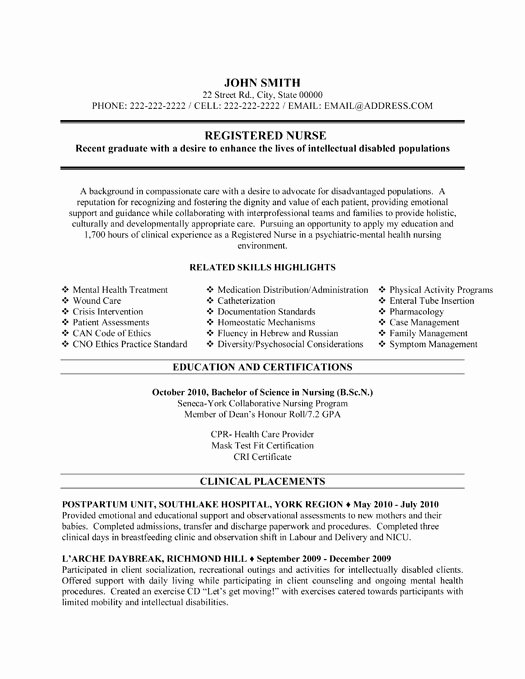Nurse Resume Template Word Elegant Registered Nurse Resume Sample & Template