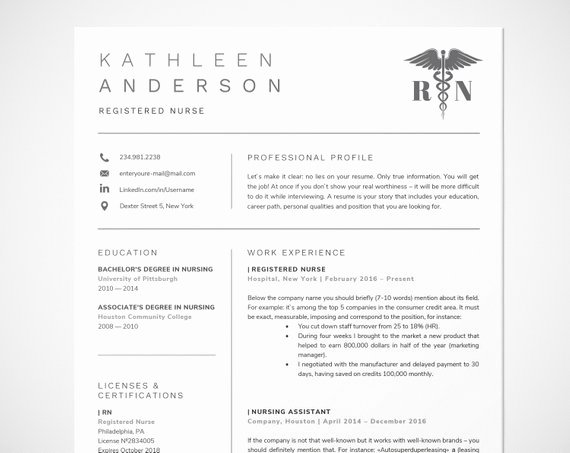 Nurse Resume Template Word Fresh Registered Nurse Resume Template for Word Nursing Resume