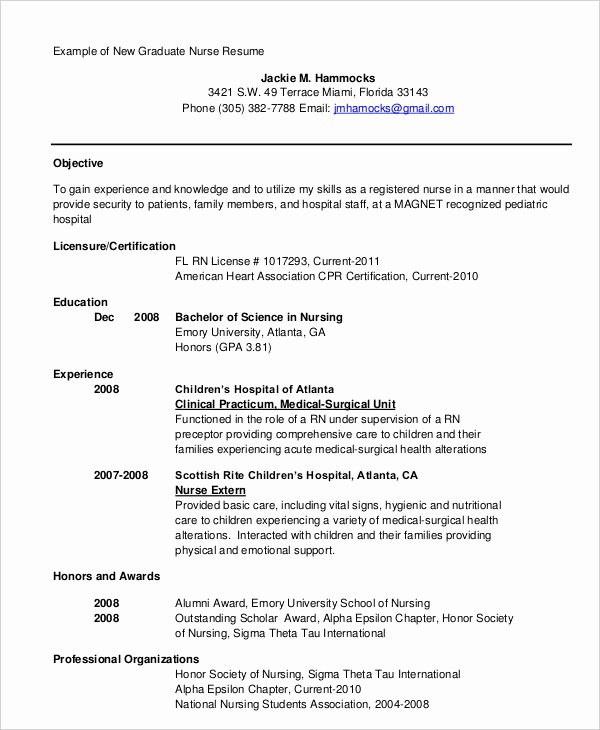 Nurse Resume Template Word Inspirational 16 Nurse Resume Templates Free Word Pdf Documents