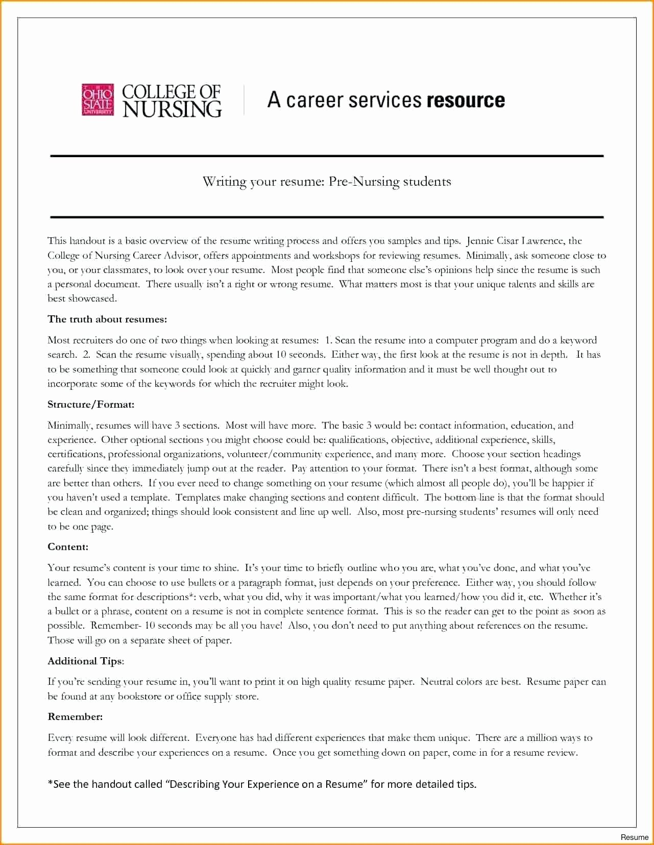 Nurse Resume Template Word Inspirational Nursing Resume Template Word Sarahepps