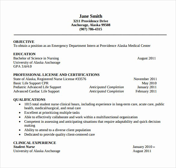 Nurse Resume Template Word Lovely Registered Nurse Resume 9 Download Free Documents In