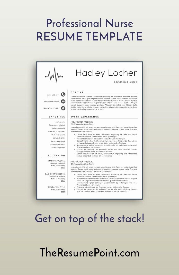 Nurse Resume Template Word Luxury 25 Best Ideas About Nursing Resume Template On Pinterest