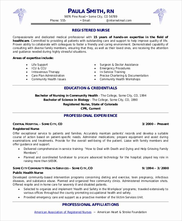 Nurse Resume Template Word New 9 Sample Nurse Resumes