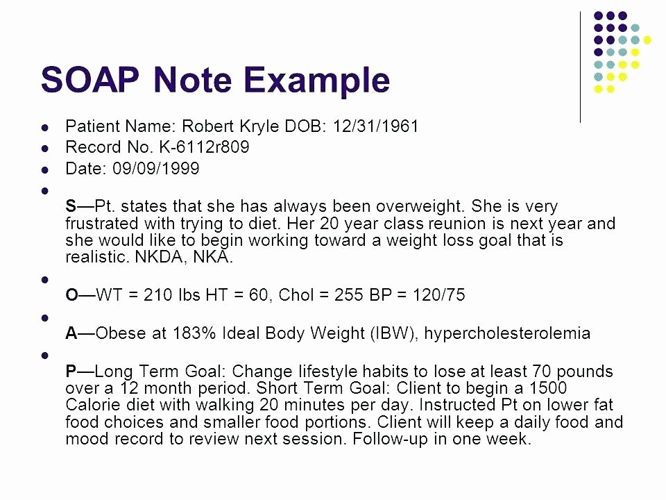 Nursing soap Note Template Best Of soap Note assessment Clinical Notes Example Psychology