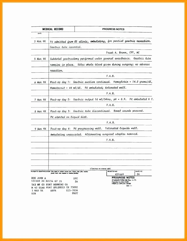 Nursing soap Note Template Fresh Nursing Progress Notes Examples Pdf Template soap
