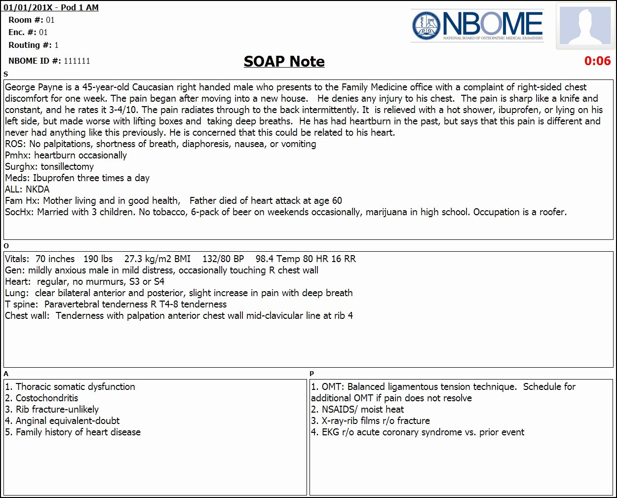 Nursing soap Note Template Unique Pleted Esoap Note Sample — Nbome