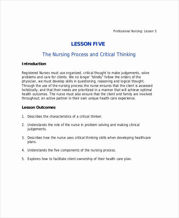 Nursing Teaching Plan Template Best Of 40 Lesson Plan Samples
