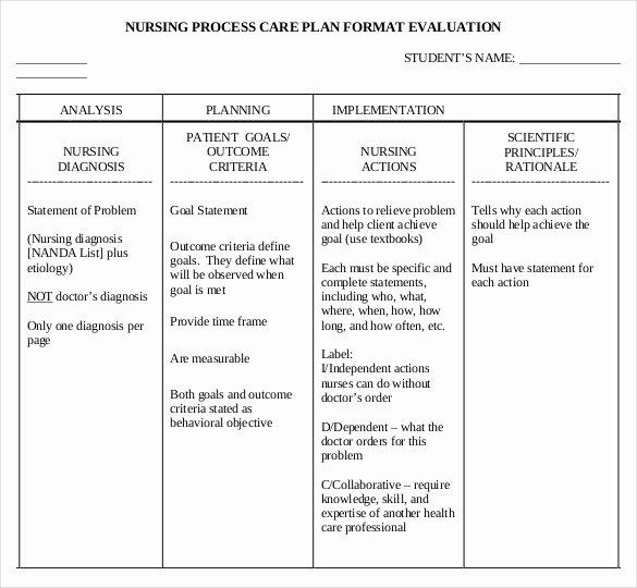 Nursing Teaching Plan Template Luxury Nursing Care Plan Templates 20 Free Word Excel Pdf