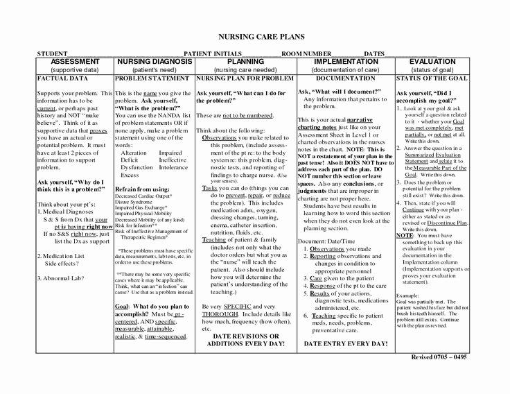 Nursing Teaching Plan Template Luxury Nursing Notes