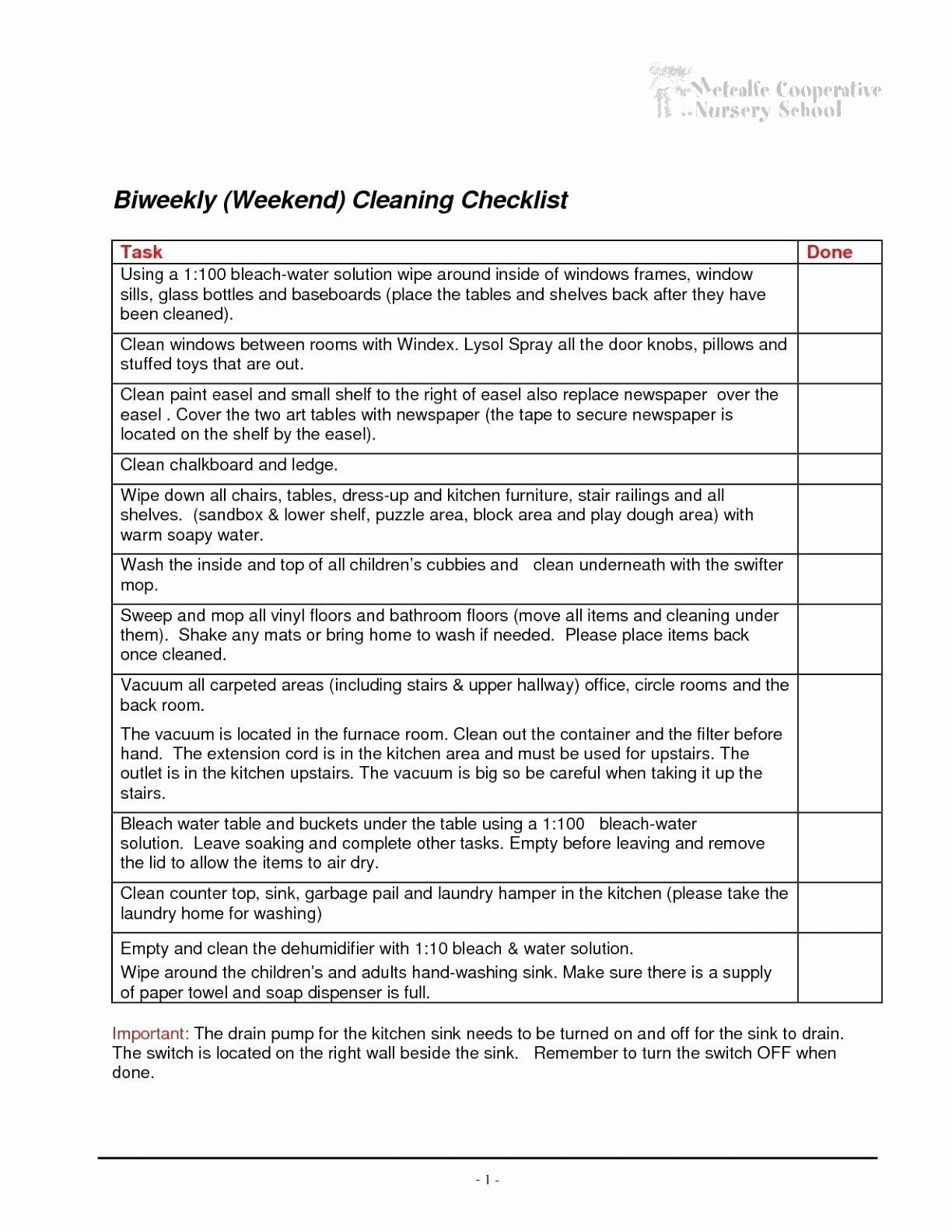 Office Cleaning Checklist Template Awesome Fice Cleaning List Template