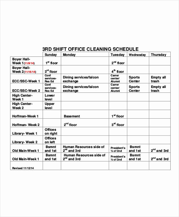Office Cleaning Checklist Template Beautiful Fice Cleaning Schedule Template 10 Free Word Pdf