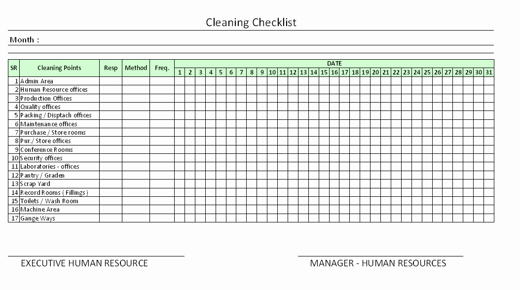 Office Cleaning Checklist Template Inspirational Daily Fice Cleaning Checklist Excel