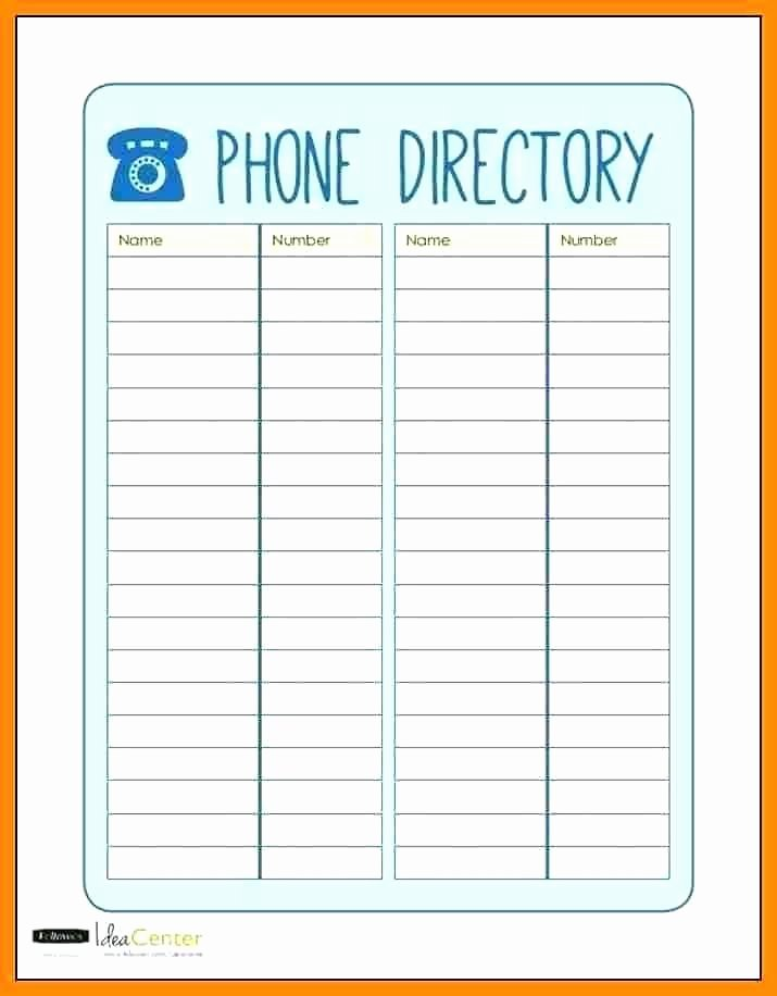 Office Phone Directory Template Lovely Directory Template Word Phone Church Address Free