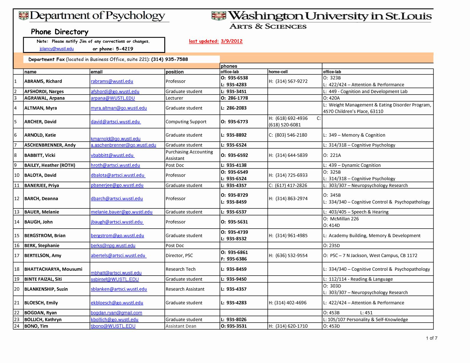 Office Phone List Template Luxury Phone List Template Excel Portablegasgrillweber