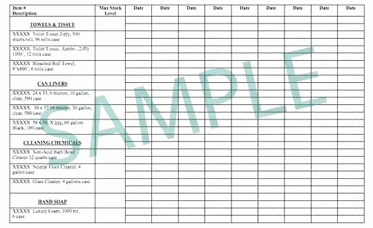 Office Supply Checklist Template New Janitorial Cleaning Supplies List Fice Supply List