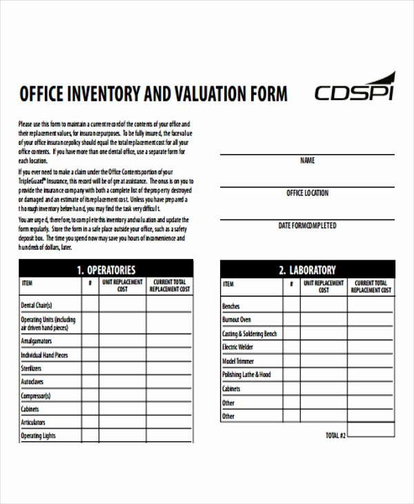Office Supply Inventory List Template Elegant 6 Fice Inventory Templates Word Pdf