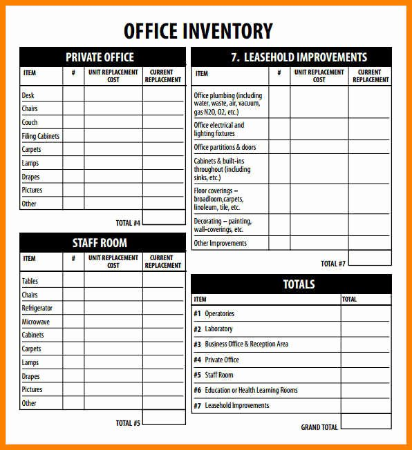Office Supply Inventory List Template Fresh 12 Supplies Inventory Template