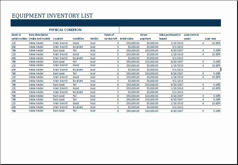 Office Supply Inventory Template Awesome Microsoft Fice Equipment Inventory Template Templates
