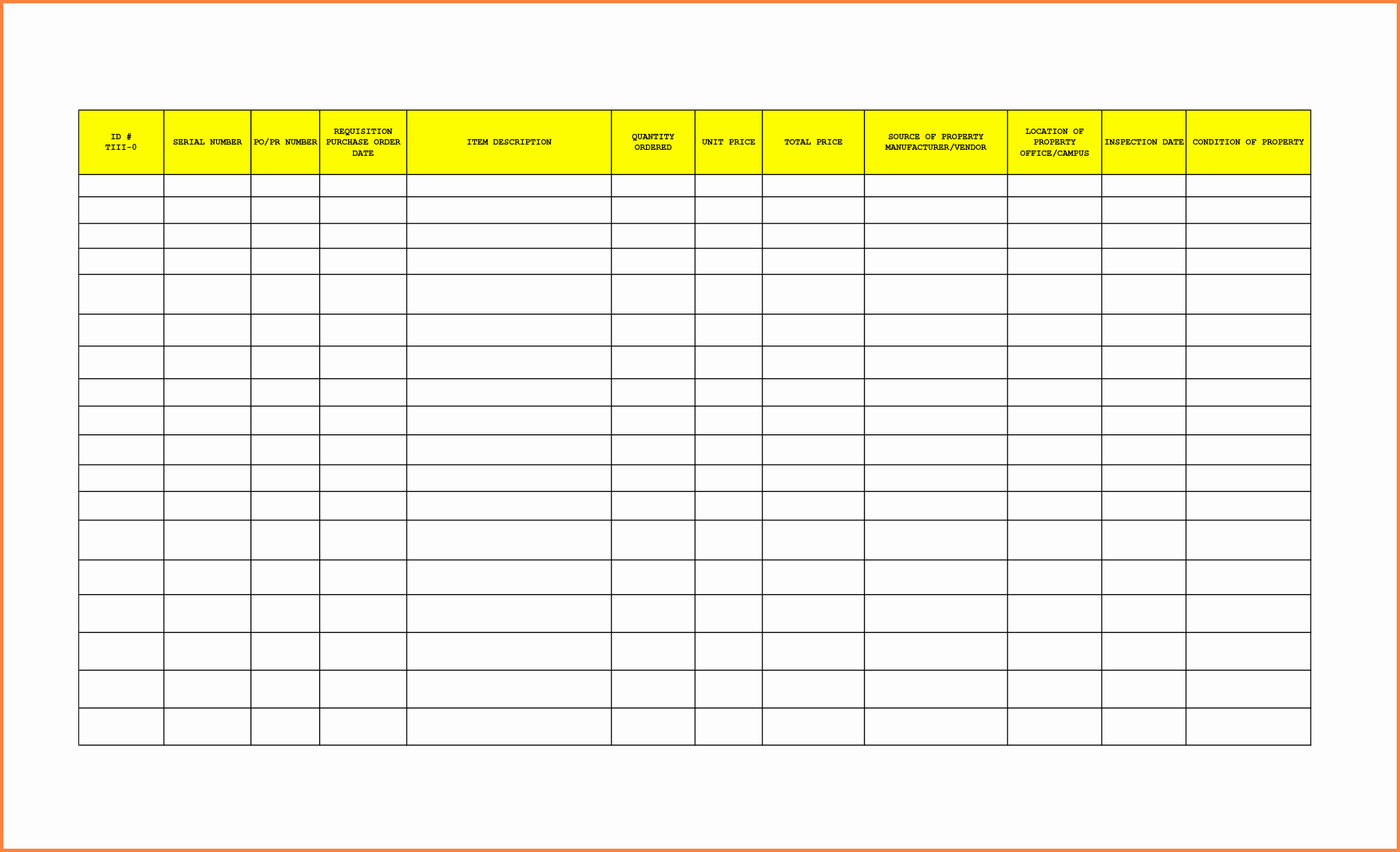 Office Supply Inventory Template Luxury 8 Office Supplies Inventory Spreadsheet