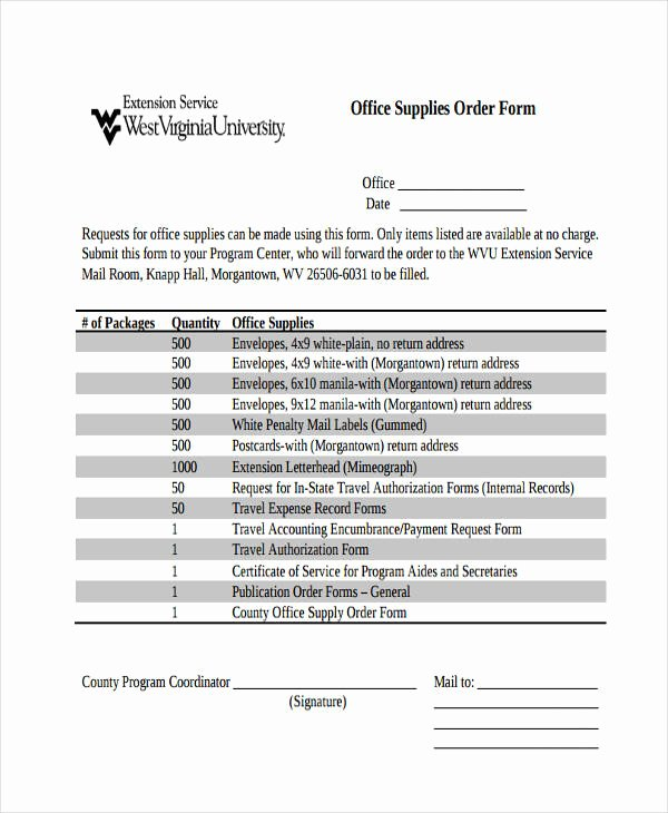 Office Supply order form Template Luxury 10 Fice order Templates Free Sample Example format
