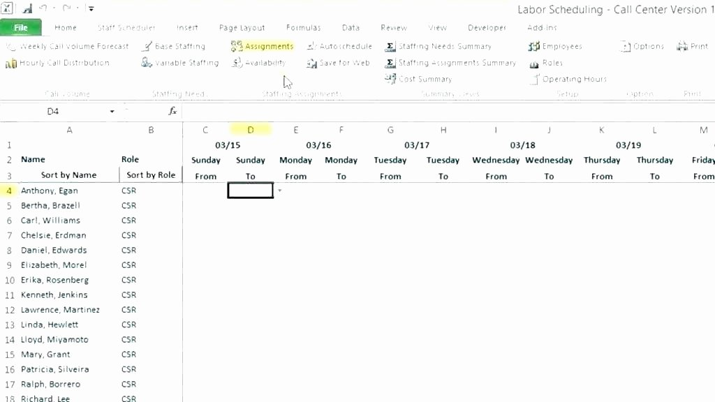 On Call Calendar Template Best Of Call Schedule Template Work Roster Template Excel