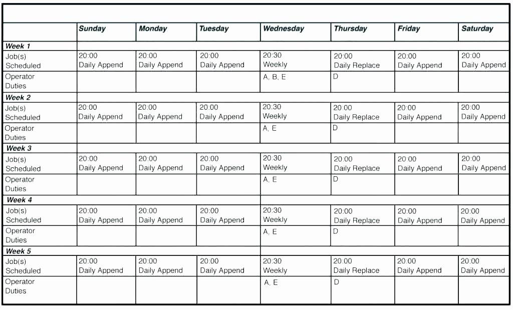 On Call Calendar Template Unique Excel Calendar Template Schedule Call Download Sales