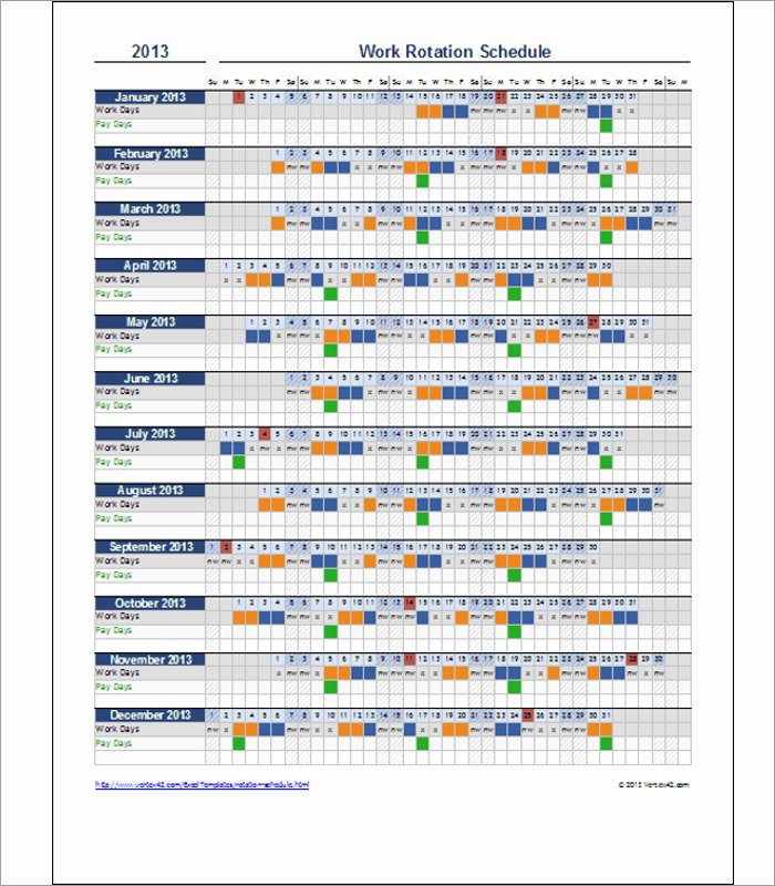 On Call Rotation Schedule Template Best Of Call Rotation Schedule Template