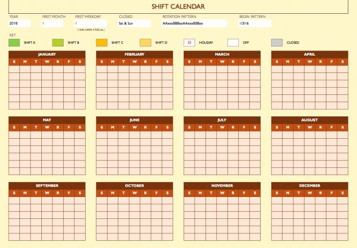 On Call Rotation Schedule Template Fresh Call Calendar Rotation Template