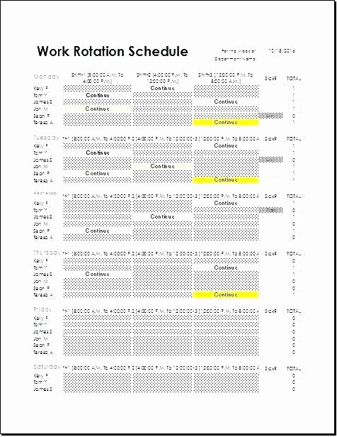 On Call Rotation Schedule Template New Call Rotation Calendar Template Image – Arabnormafo