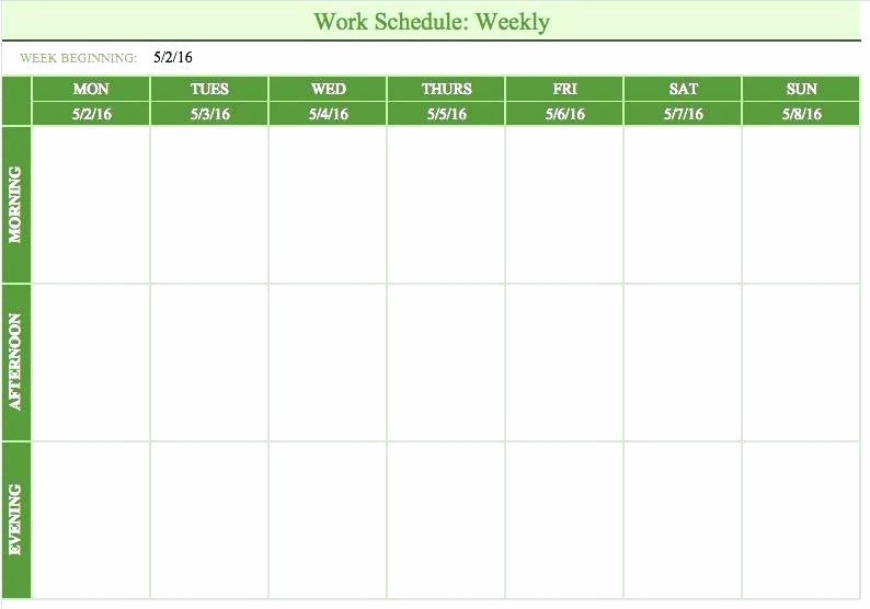 On Call Scheduling Template New Call Schedule Template Work Roster Template Excel