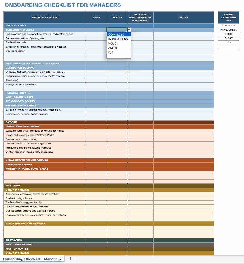 Onboarding Checklist Template Excel Elegant Free Boarding Checklists and Templates