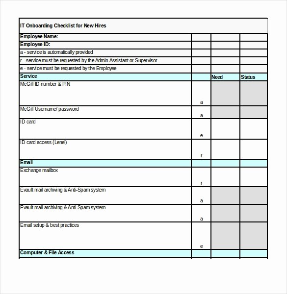 Onboarding Checklist Template Excel Fresh Boarding Checklist Template – 15 Free Word Excel Pdf